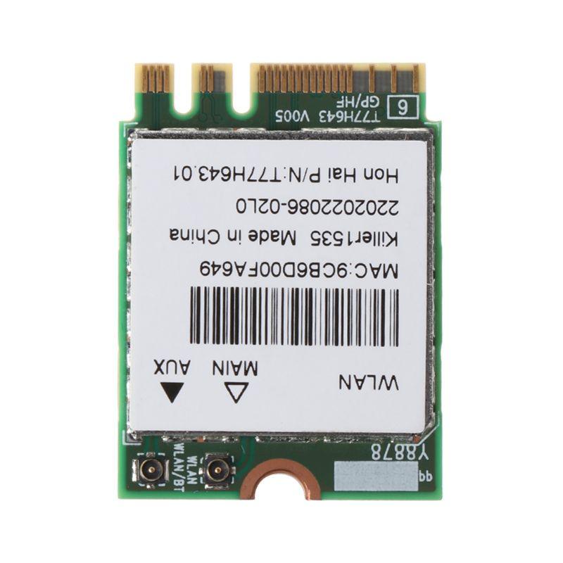 Tueur 1535 1525 QCNFA364A AC M.2 adaptateur de carte WIFI pour MSI GT72/GS60 pour Dell 896F