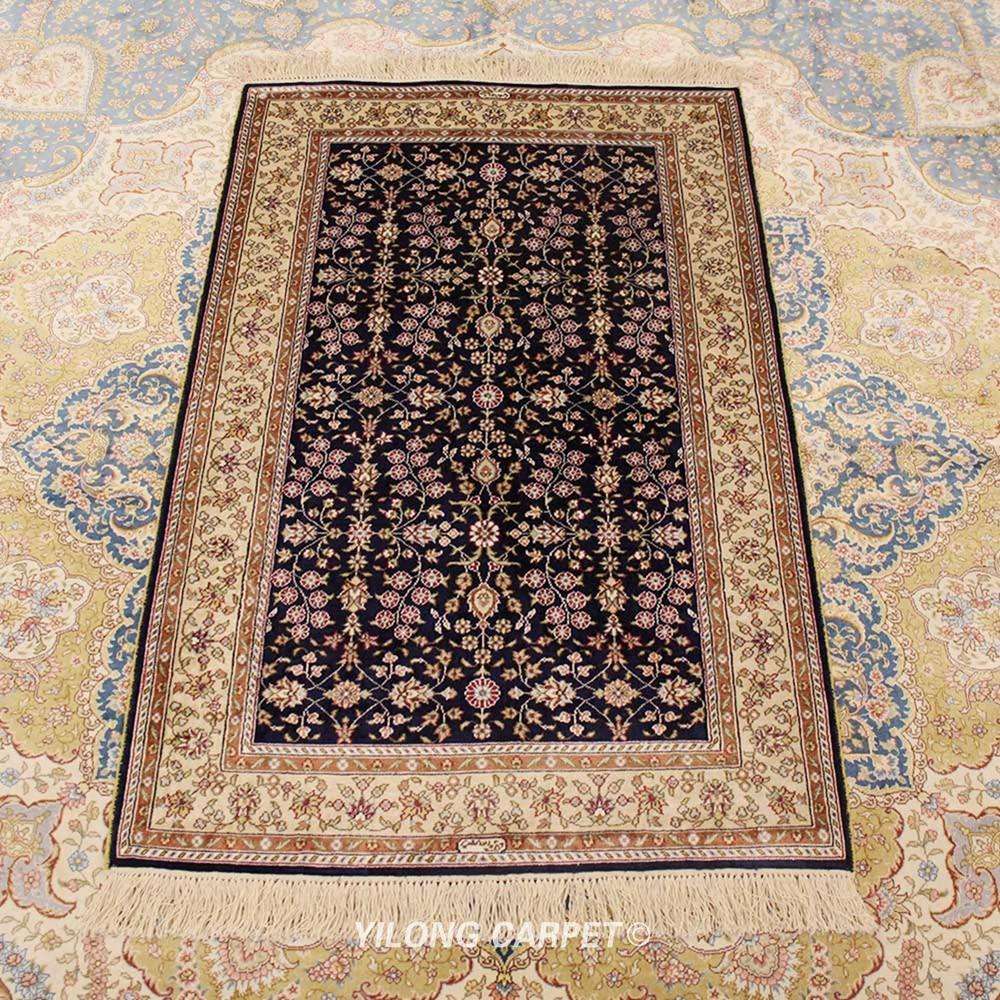 Yilong 2,5 x 4 alfombra de seda Hereke alfombra pequeña habitación de Casa decoración alfombra (YXR180B)