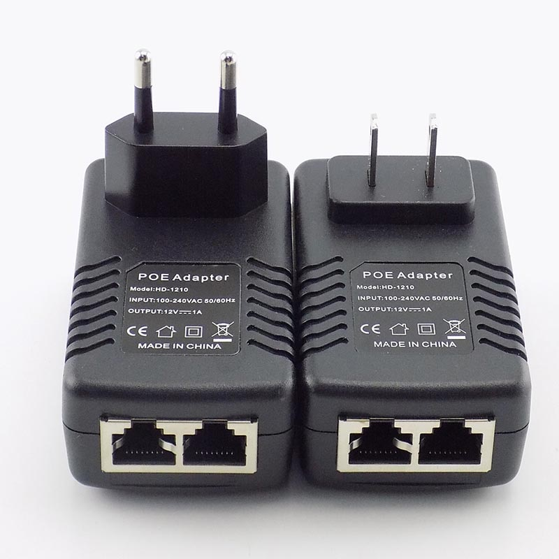POE Power Supply 12V 48V POE Injector Ethernet Adapter For CCTV Security Camera System EU US Plug enlarge