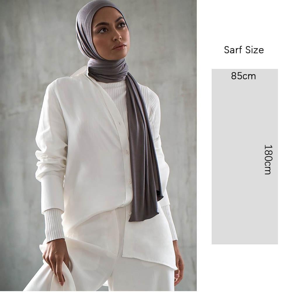 SMG 180*85cm Muslim plain Hijab cotton stretchy premium Jersey Scarf Soft Material big large size shawls women muslim