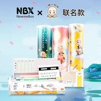 Pencil Case Unicorn Kawaii School Supplies Double Layer Pen Box With Mirror Calculator Whiteboard Writing Multifunction Case