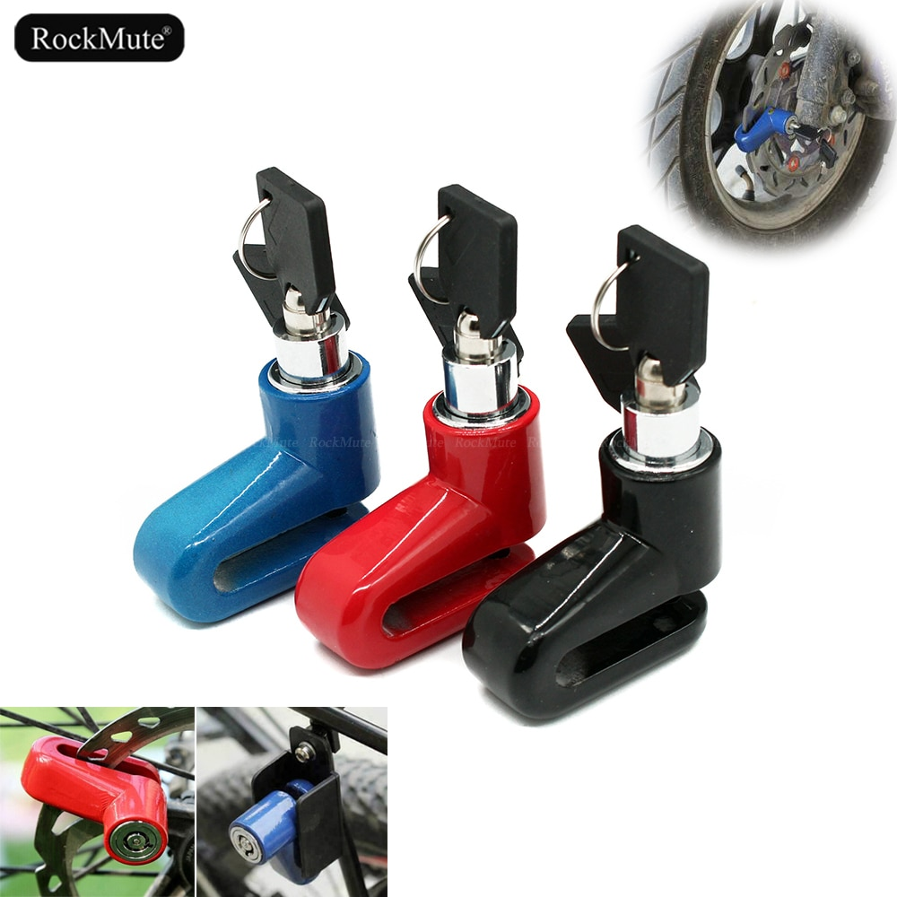 motorcycle waterproof alarm disc lock bike metal disc lock motocross warning security anti theft brake rotor alarma padlock Wheel Brake Disc Lock For Motorcycle Scooter Dirt Bike Bicycle e-bike Anti-theft Security Waterproof Durable / Reminder Cable