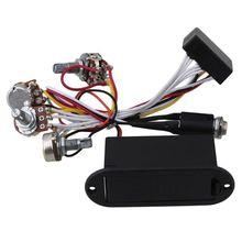 2 полосная активная бас гитара Эквалайзер предусилитель схема звукоснимателя черный