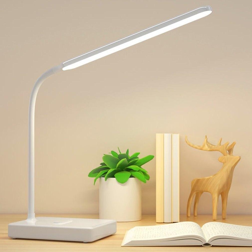 New 2021 Desk Lamp Touch Table Lamp Gooseneck Desktop Foldable Dimmable Eye Protection Study Lamp LED Light For Living Room