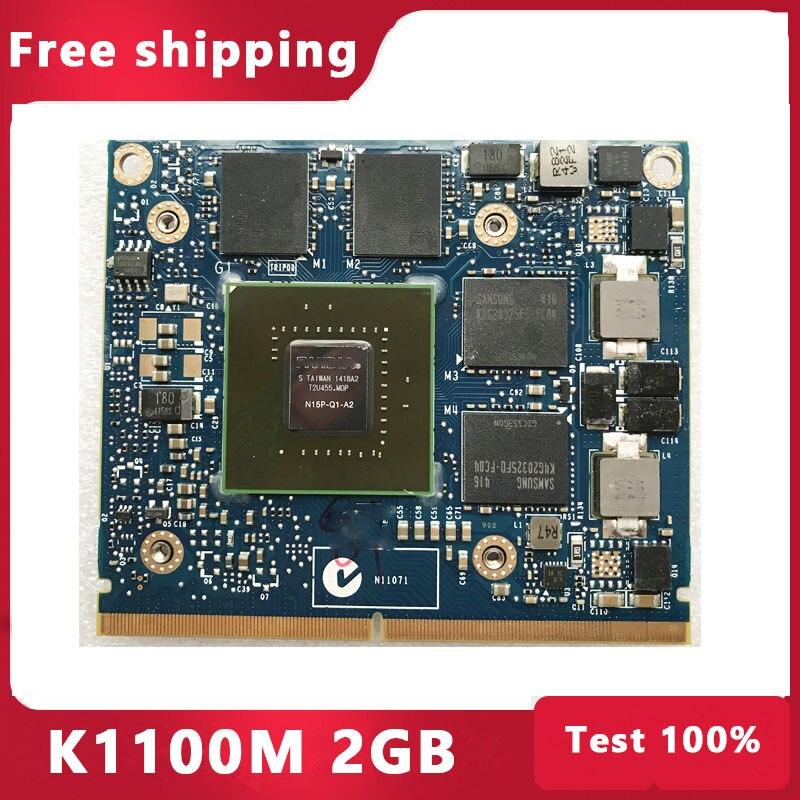 كوادرو K1100M K1100 GDDR5 VGA فيديو بطاقة الرسومات N15P-Q1-A2 لديل M4600 M4700 M4800 HP 8570W 8770W ZBook 15 100% اختبار