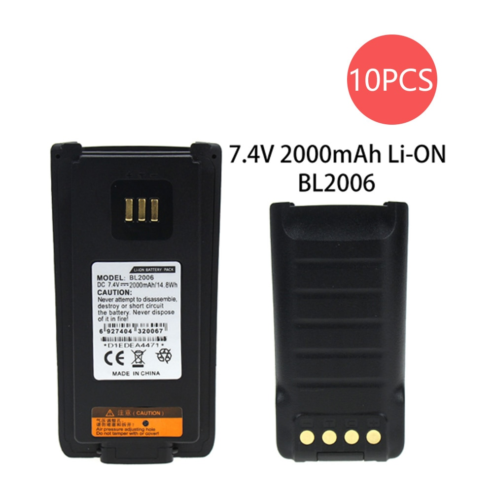 10X Replacement Battery for Hytera PD985 PD985U Walkie Talkie BL2016 2000mAh Li-on