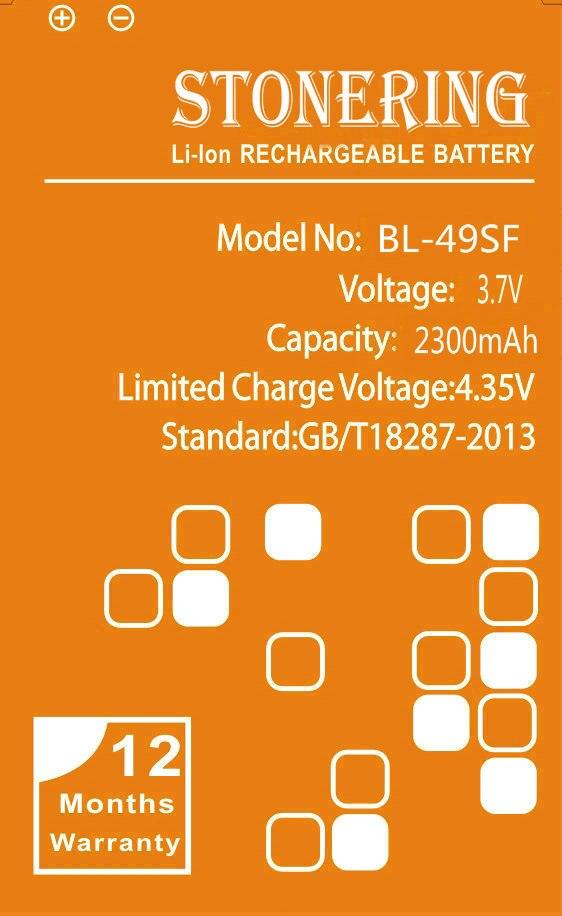 Stonering  original 2300mAh BL-49SF Battery for LG H525N G4 Mini G4mini G4 Beat G4Beat G4C G4S H735T Cell Phone