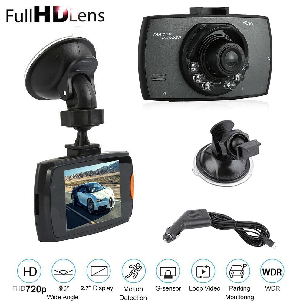 2021 HD 720P Автомобильный видеорегистратор, видеорегистратор, 2,4 дюймовый ЖК-дисплей, ночное видение, автомобильная камера, регистратор, ночное ...
