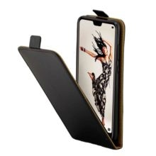 Magnetic Vertical Up Down Flip Leather Card Slot TPU Back Case Cover For Huawei P20 / P20 Pro