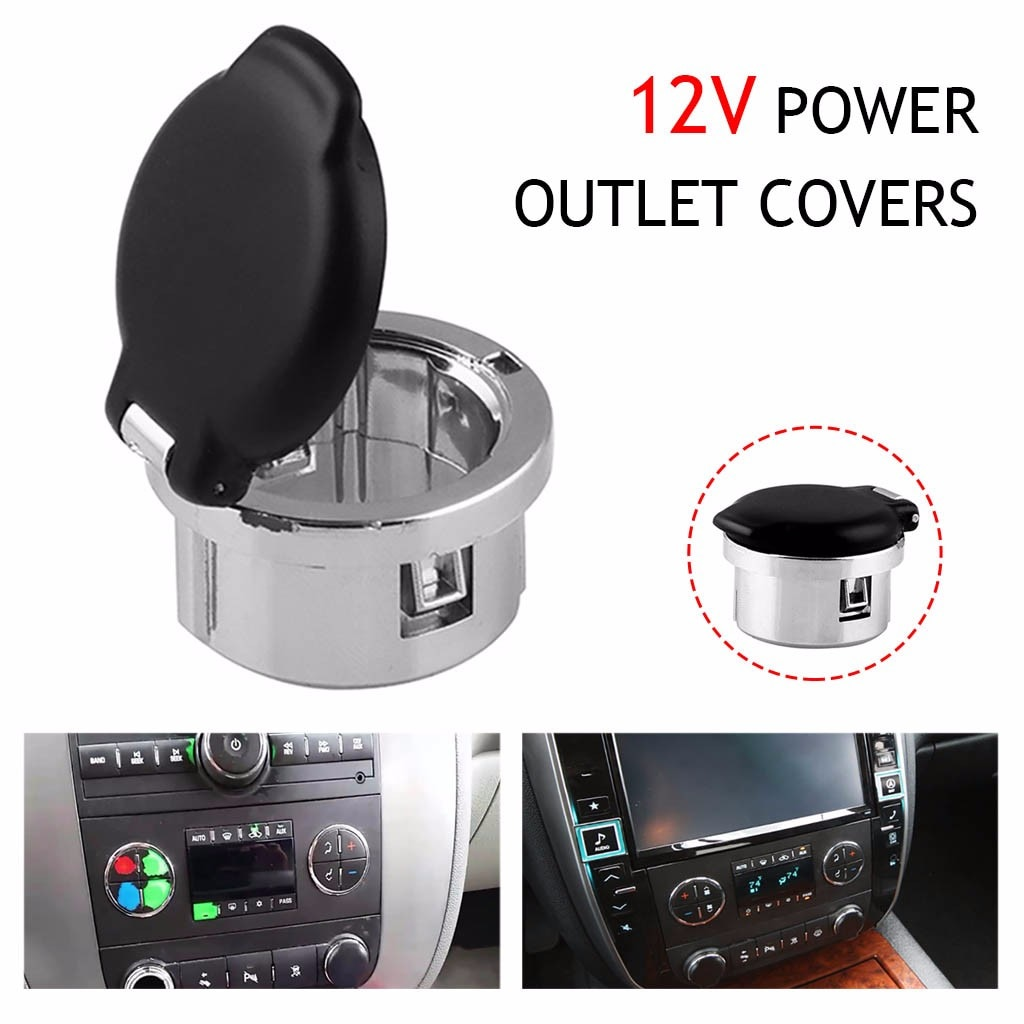Tapa de salida de alimentación de tablero para Chevrolet para Gmc para Cadillac 2007-2013 20983936 para Silverado 1pc tapa de salida de potencia negra # BL5