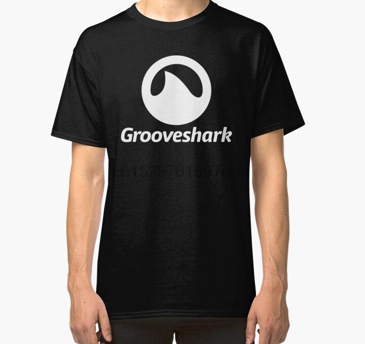 Camiseta para hombre, camiseta GROOVESHARK, Camiseta clásica con servicio de Streaming de música, camiseta estampada, camiseta