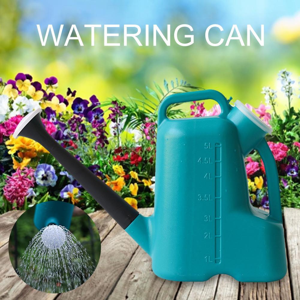 Pp rega pode 3 em 1 grande capacidade de água sprinkler com tampa plástico rega pote ao ar livre e indoor casa plantas jardim ferramenta