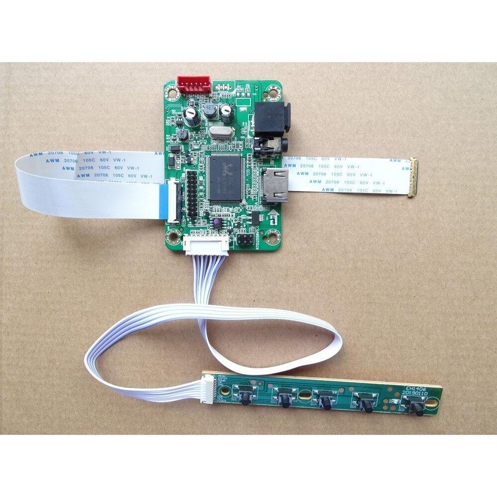 HDMI-متوافق LED EDP LCD البسيطة تحكم سائق مجلس كيت DIY ل HB125WX1-100 1366X768 كابل بطاقة رصد