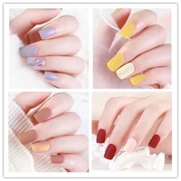 fake nails with detachable glue set packaging press coffin false stick designs art tipsy cover box full artificial short