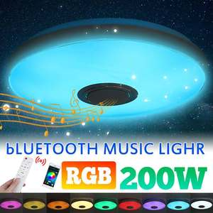 200W Modern bluetooth RGB Dimmable LED Ceiling Light APP Remote Control Music Light Smart Ceiling Lamp for Bedroom Living Room