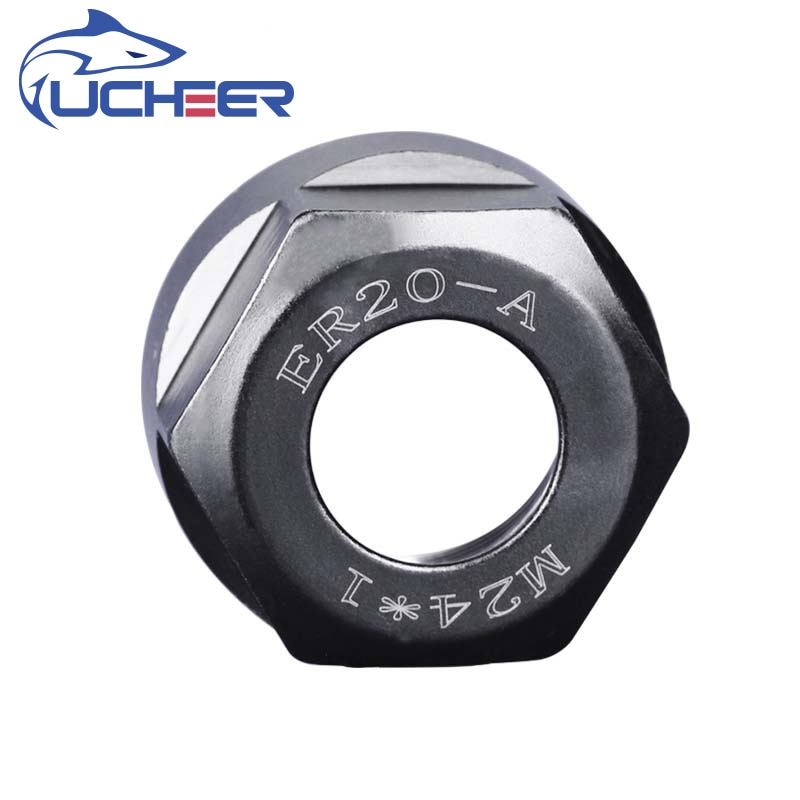 UCHEER 1pcs HRC52-55 High precision ER nut spindle fixture lock tip dynamic balancing CNC milling machine engraving accessories