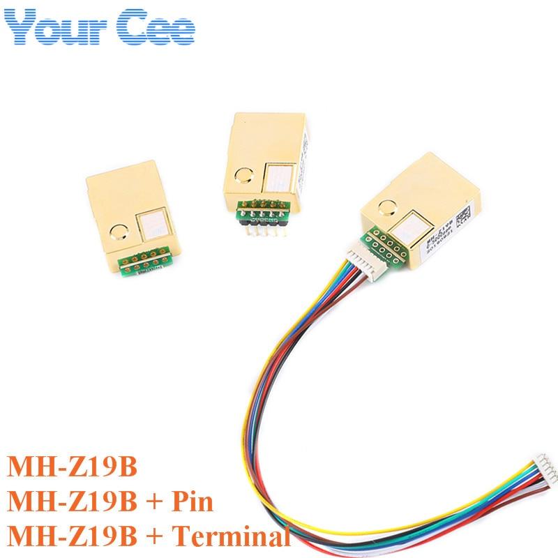 MH-Z19 Módulo Sensor infrarrojo CO2 NDIR de MH-Z19B para Monitor de Gas de dióxido de carbono co2 Sensor de Gas 0-5000ppm LART PWM MH Z19B