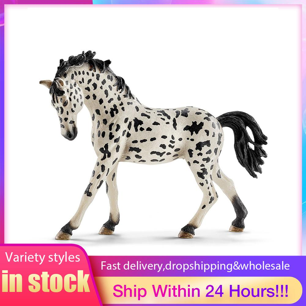 PVC Simulation paard animal Model Horses 5inch Denmark Knabstrupper Mare toy Figure farm animals toys Fairy Garden Decoration