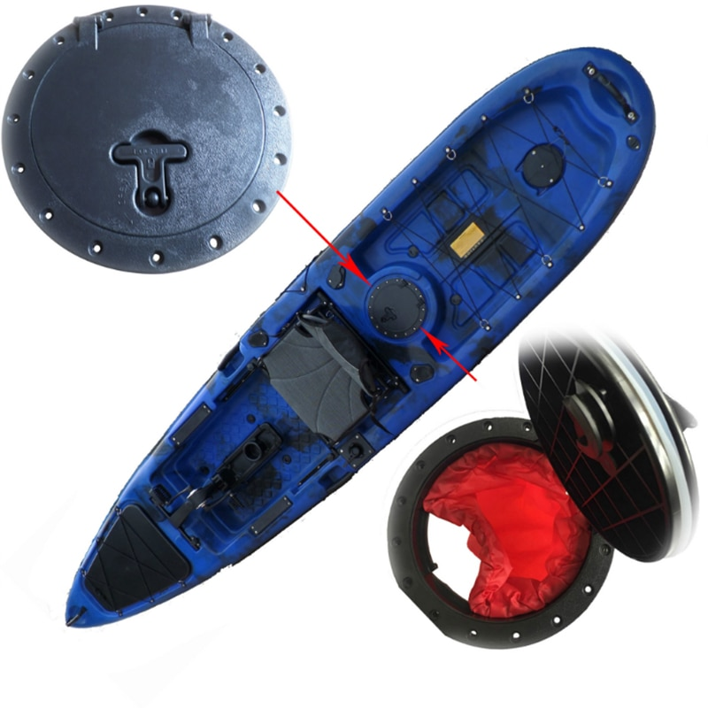 АБС-пластик, круглый люк для лодки, палубная пластина, крышка люка, АБС-сумка, 10 дюймов, водонепроницаемые аксессуары для уличной морской лодки, сумки для рыбалки