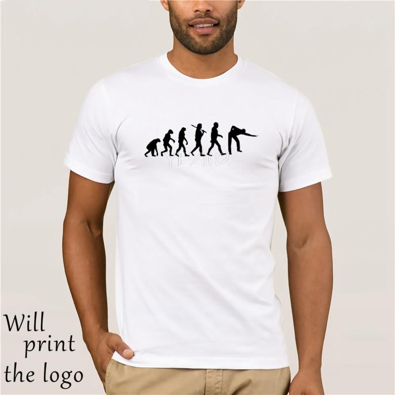 Evolução do snooker camiseta piscina tshirt ape para homem bilhar t camisa tamanho S-XXL