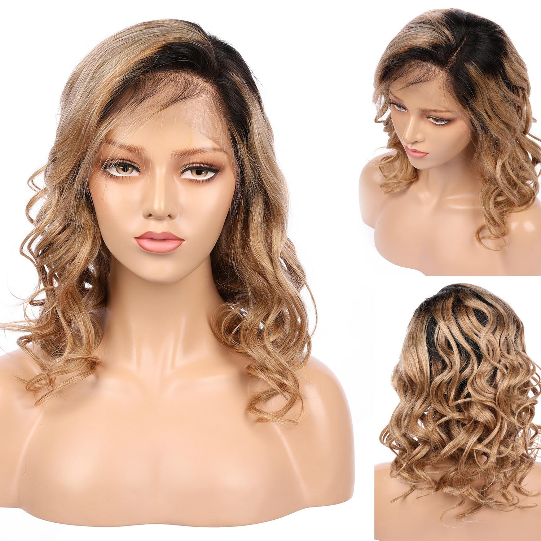 1B 27 لون 180% كثافة غلويليس طويل الجسم موجة الاصطناعية الدانتيل شعر مستعار أمامي مع شعر الطفل للنساء السود