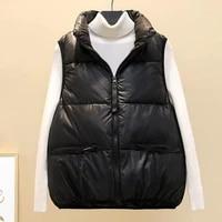 new 2021 winter vests for women coat female jacket warm casual lady waistcoat outerwear sleeveless clothing black