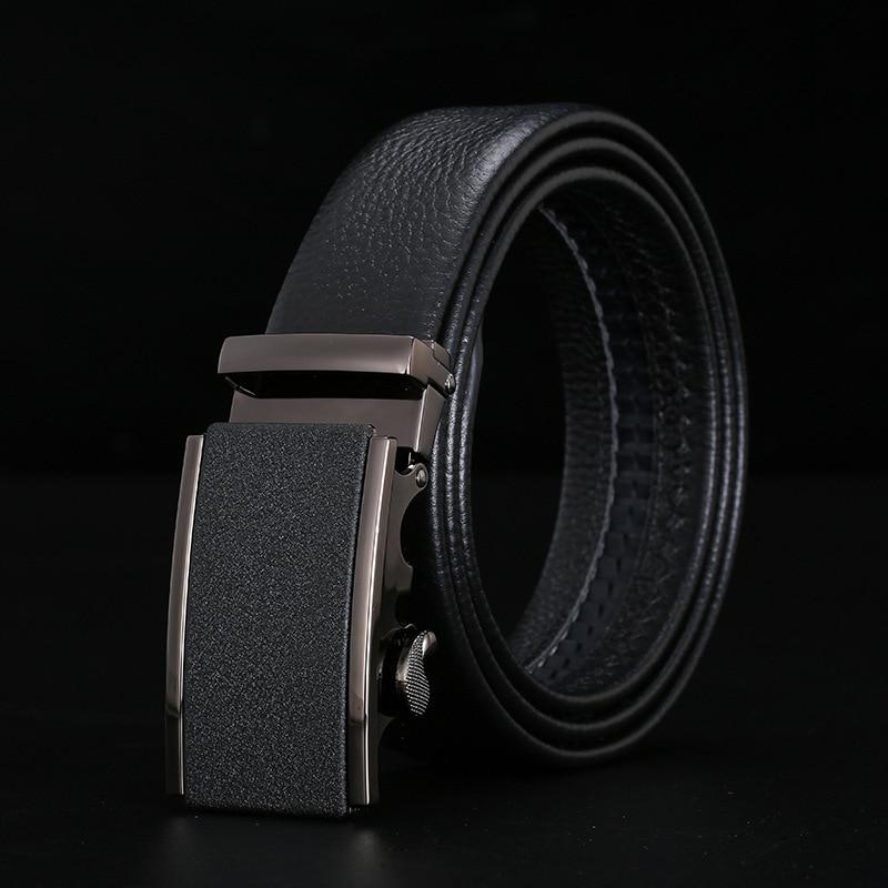 Peikong Luxury Brand Automatic Buckle Male Black designer Belts fashion wide vintage belt for men high quality leather men's