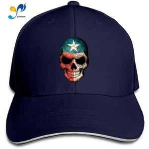 Texas Flag Skull Men Cotton Classic Baseball Cap Adjustable Size