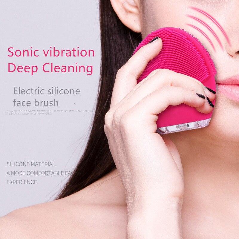 USB de limpieza lavadora Mini cepillo eléctrico de masaje poro profundo limpieza impermeable de silicona masaje suave lavado de cara