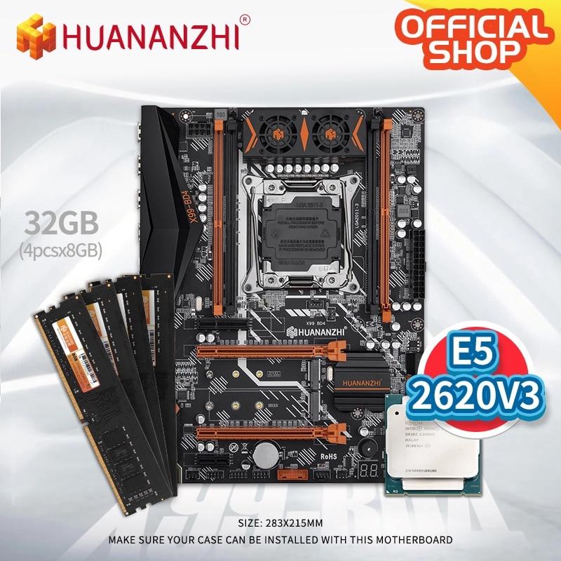 HUANANZHI X99 BD4 X99 اللوحة الأم مع إنتل سيون E5 2620 v3 مع 4*8G DDR4 NON-ECC الذاكرة كومبو مجموعة NVME NGFF SATA USB 3.0