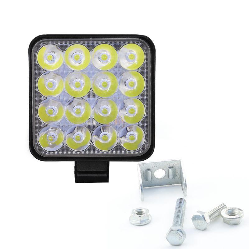 ONEWELL Square 48W LED Work Light 12V 24V Off Road Flood Spot Lamp For Car Truck off-road work light  SUV