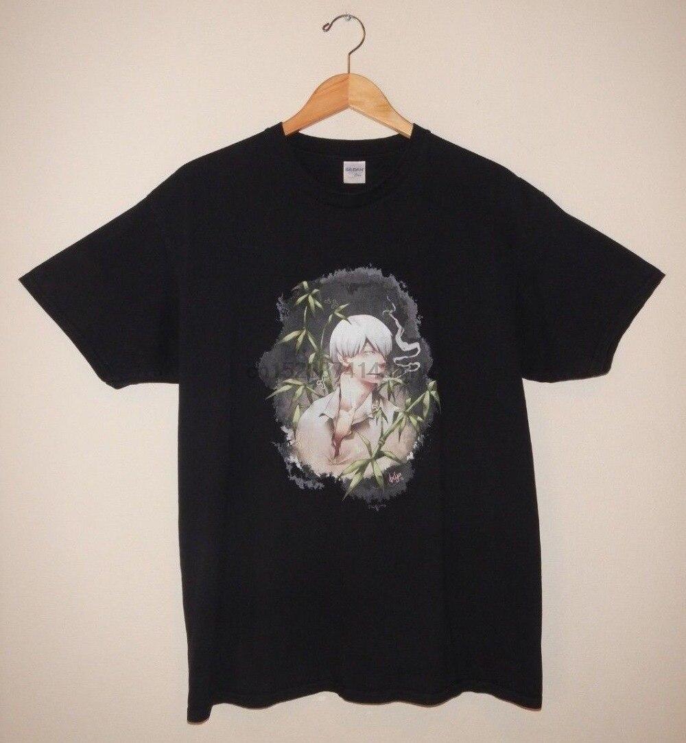 2019 nueva ropa de marca de moda mushishishi-ginko-hombres (se adapta como) talla XL-Camiseta gráfica camiseta estampada