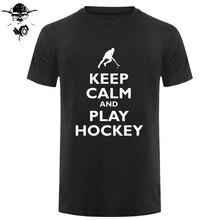 Halten Sie Ruhe und Spielen HockeyER-Herren T-Shirt-Bereich Hockey-Gras freies verschiffen Name Print T Shirt Herren kurzarm Hot Tops