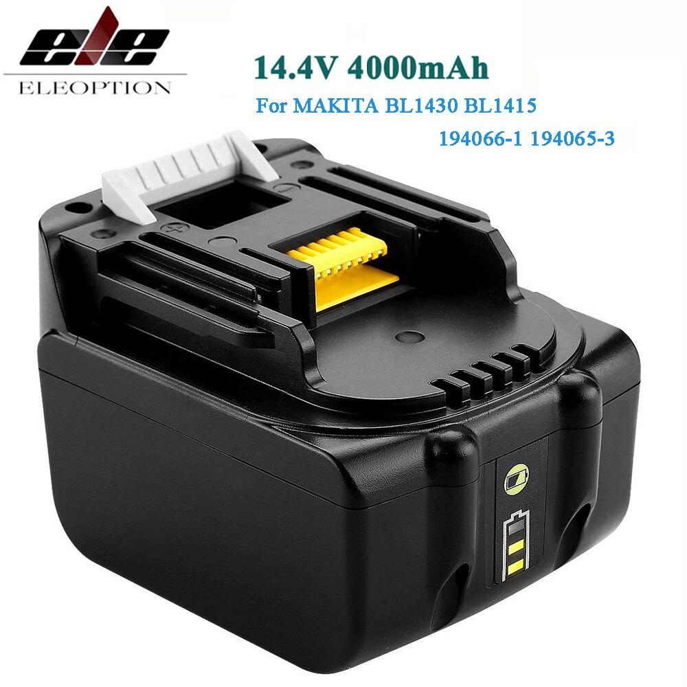 14,4 V 4,0 mAh Li-Ion batería para MAKITA batería de 14,4 V BL1430 BL1415 194066-1-194065-3 194559-8 MAK1430Li... MET1821