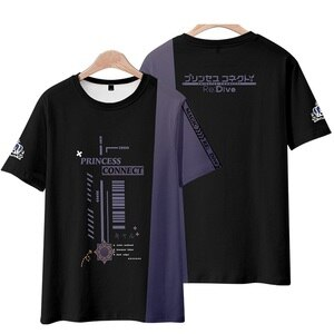 Unisex Anime Cos Princess Connect! Re:Dive Pecorine T-Shirt Tee T Shirt Princess Re:Dive Short Cotton Casual Tee TShirt