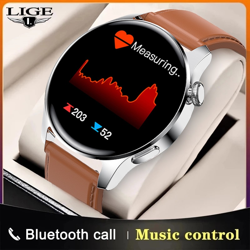LIGE 2021 New Smart Watch Men Sports Pedometer Health Heart Rate Blood Pressure Watches Camera Contr