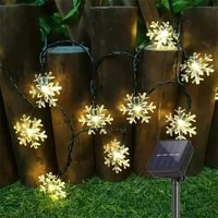 203050led solar snowflakes string lights outdoor waterproof garland fairy garden lights for wedding party christmas decoration