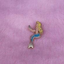 Sirène en badge de maquillage vestes à la mode sac à dos décor