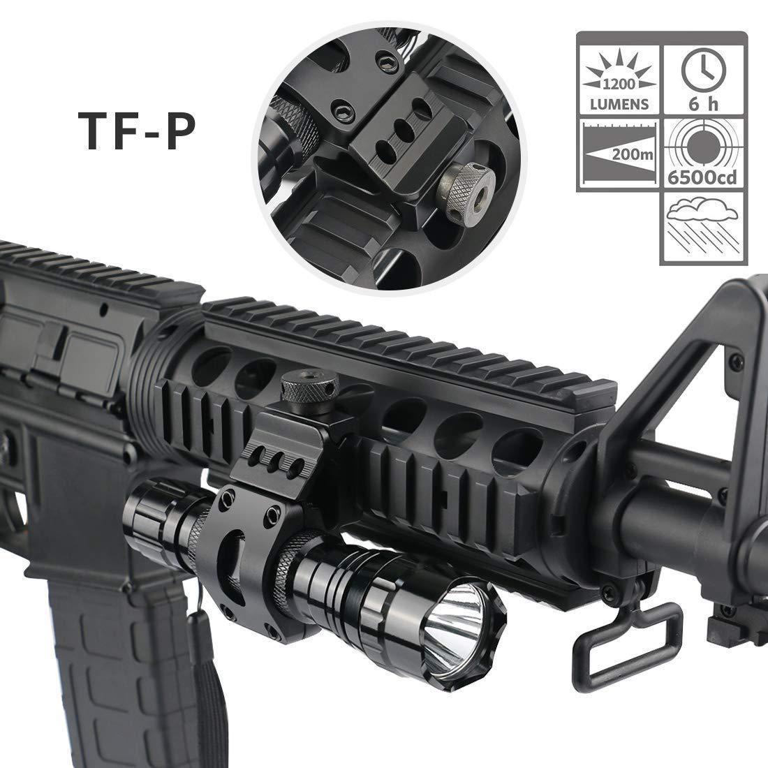 Táctica 1200LM LED 501B caza Airsoft linterna para arma de fuego luz Scout exterior Rifle pistola linterna Fit 20mm Rail