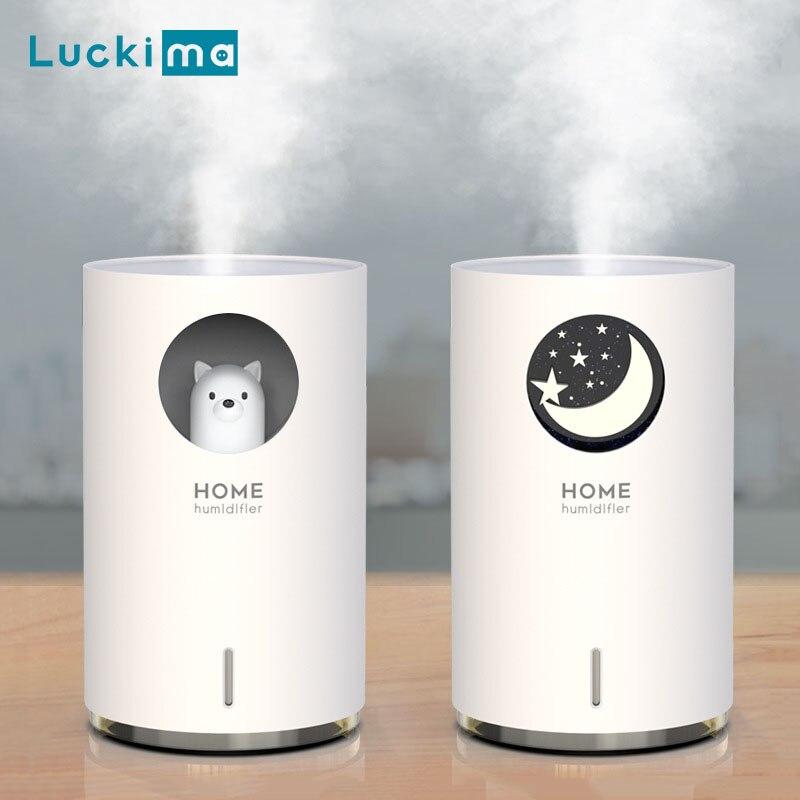 700 мл креативный увлажнитель воздуха для дома и офиса ультразвуковой с ароматическим эфирным маслом диффузор с светодиодный Ночной светиль...