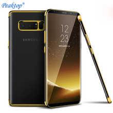 Роскошный мягкий силиконовый тонкий чехол из ТПУ для Samsung galaxy S10 e S8 S9 Plus A3 A5 A7 2017 A6 A8 2018 Note 8 9 duos, задняя крышка для телефона