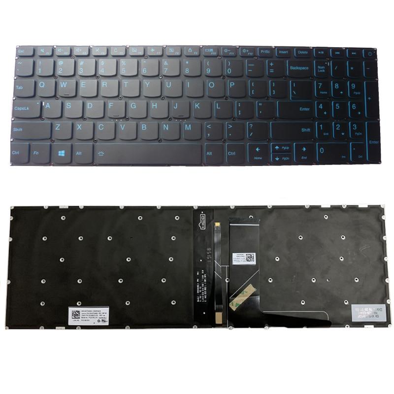 الخلفية لوحة المفاتيح لابتوب لينوفو IdeaPad L340-15 L340-15API L340-15IWL/151WL 5000 340C-15 لنا RU FR GR AR SP KR الأزرق لوحة المفاتيح