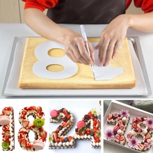 6/8/10 pollici PET 0-8 numeri Set di stampi per dolci strumenti per decorare torte Confeitaria Maker fai da te torta di compleanno accessori per pasticceria e panetteria