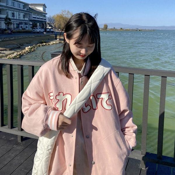 College Style Baseball Uniform Women Autumn Clothing New Korean Student Casual Jacket Ins Fashion Ha