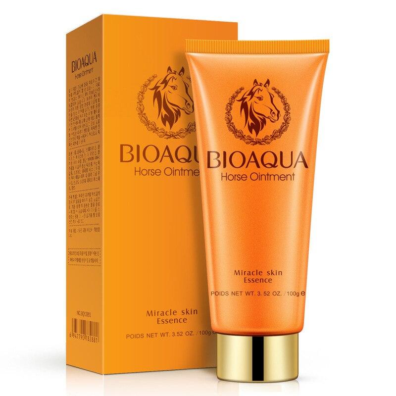 Horse Oil Facial Cleanser Cleansing Cream Deap Clean Oil-Control Pore Shrinking Cosmetics