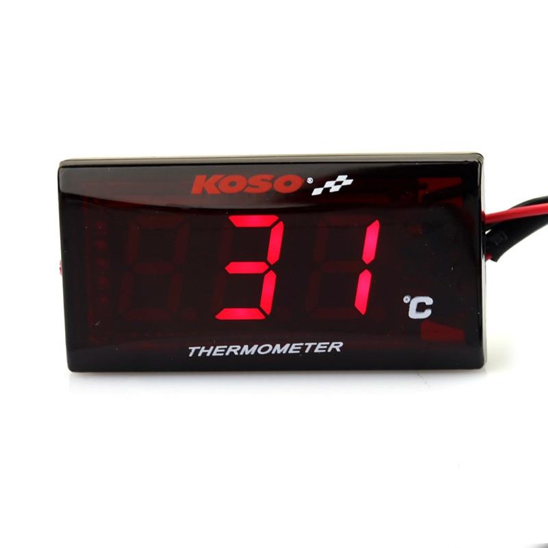 Instrumentos da motocicleta termômetro para koso yamaha xmax 300 bmw temperatura de temperatura da água digital scooter slimline medidor