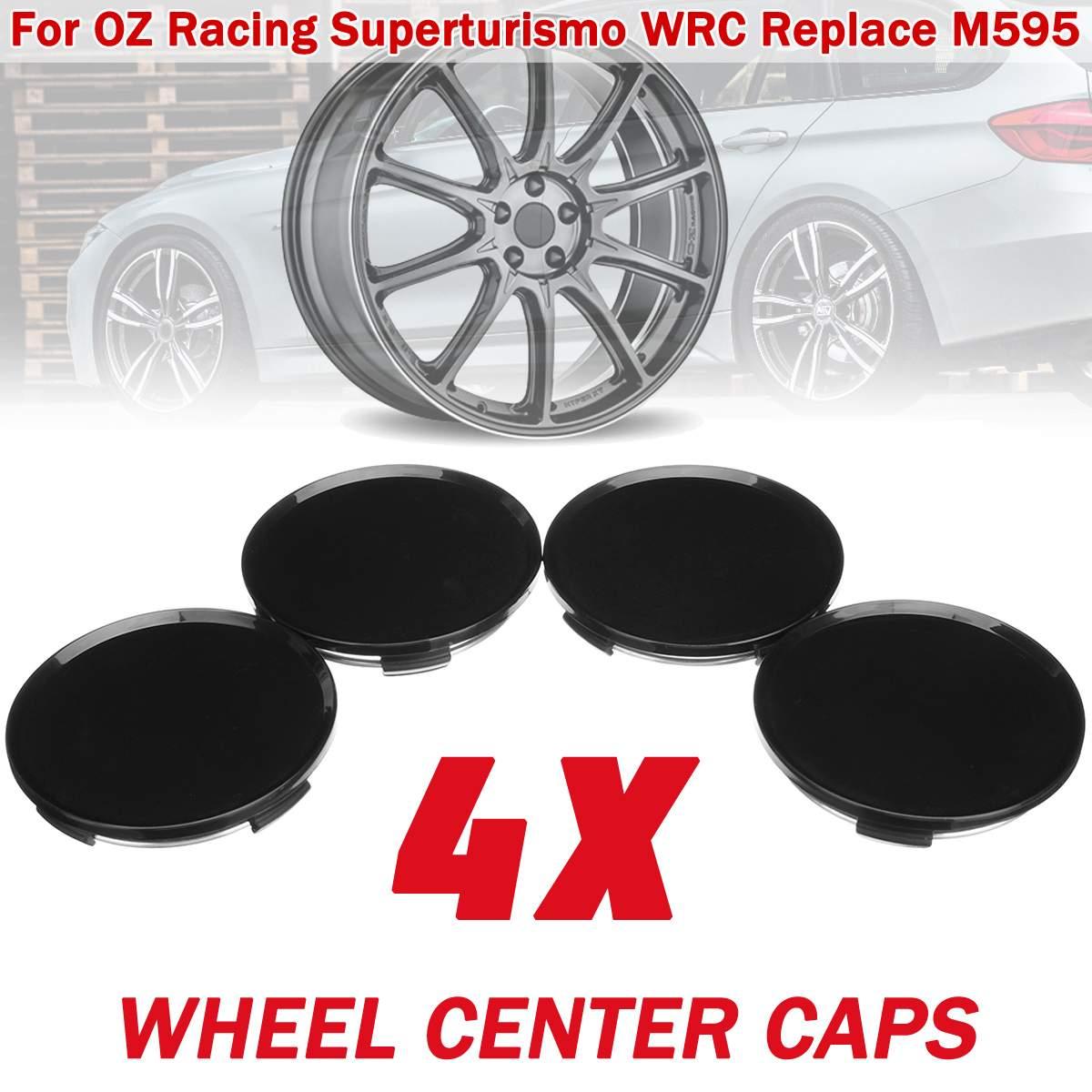 Autoleader 4 Uds tapas de centro de rueda 63mm 57mm para OZ Racing Superturismo para WRC