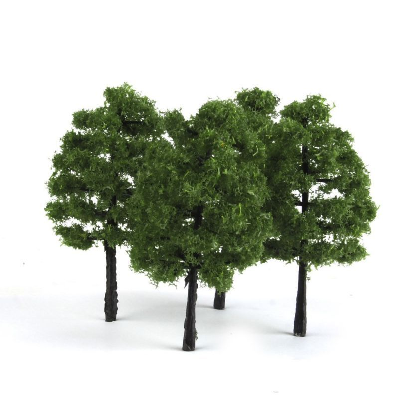 Paquete de 20 modelos de árboles tren Diorama paisaje HO OO escala 1100