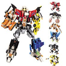 891Pcs 6 IN 1 Mecha Deformation Tobot Toy Hero Destroyer Cars Vehicle Model Building Blocks Sets Bricks Toys for Chiildren