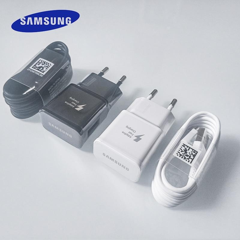 Samsung s10 s8 s9 mais rápido carregador adaptador de alimentação 9v1.67a carga rápida tipo c cabo para galaxy a90 a80 a70 a60 a50 a30 nota 8 9